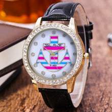 Nautical Style Diamond Anchor Watch for Women