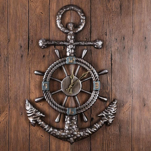 Vintage Nautical Anchor Wall Clock-Nautical Home Decor -Nautical Style