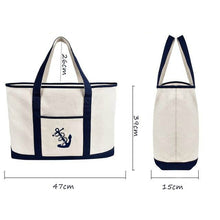 Vintage Canvas Anchor Bag