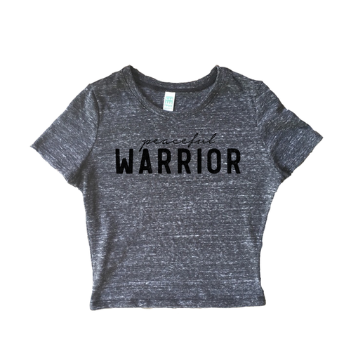 PEACEFUL WARRIOR ECO TRIBLEND CROP TEE