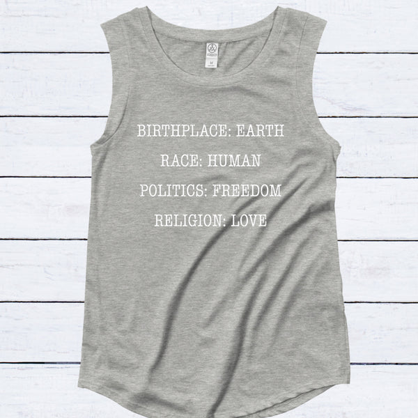 BIRTHPLACE EARTH CAP SLEEVE TEE