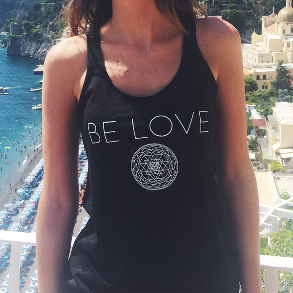 BE LOVE RACERBACK TANK