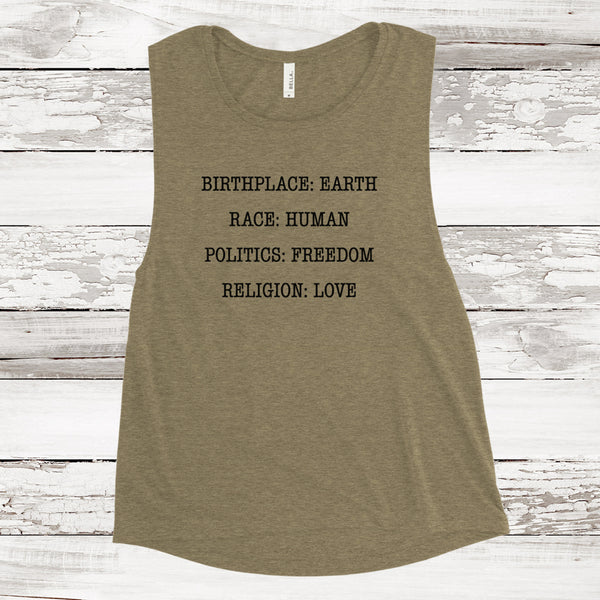 BIRTHPLACE EARTH MUSCLE TANK
