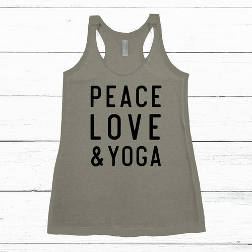 PEACE LOVE & YOGA TANK