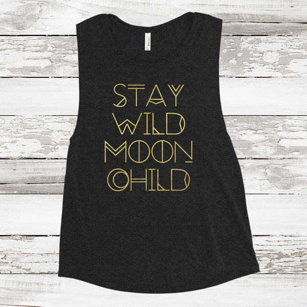 STAY WILD MOON CHILD MUSCLE TANK