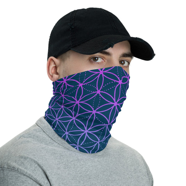FLOWER OF LIFE FACE SHIELD / NECK GAITER - COSMIC