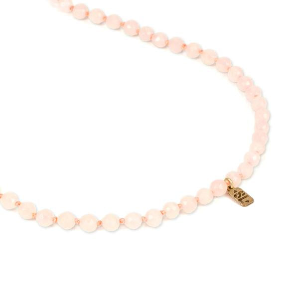 ROSE QUARTZ GEMSTONE MALA