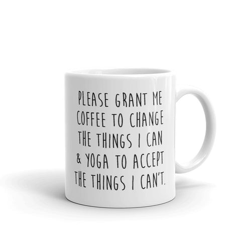 GRANT ME COFFEE AND YOGA MUG