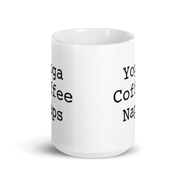 Yoga Coffee Naps Mug