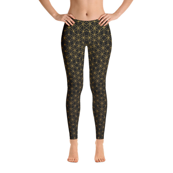 FLOWER OF LIFE LEGGINGS BLACK