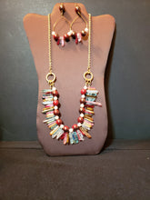 Lady In Red Quartz Earring & Necklace set