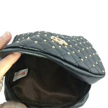 Rivet Chain Shoulder Bag High Quality PU Leather Crossbody Quiled Crown bags