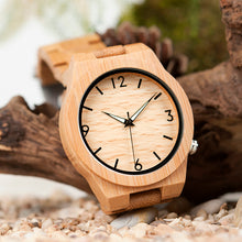 Top Brand Luxury Quartz Bamboo Wooden Watch for Men
