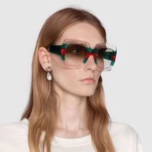 Luxury Brand Italy Oversized Square Sunglasses