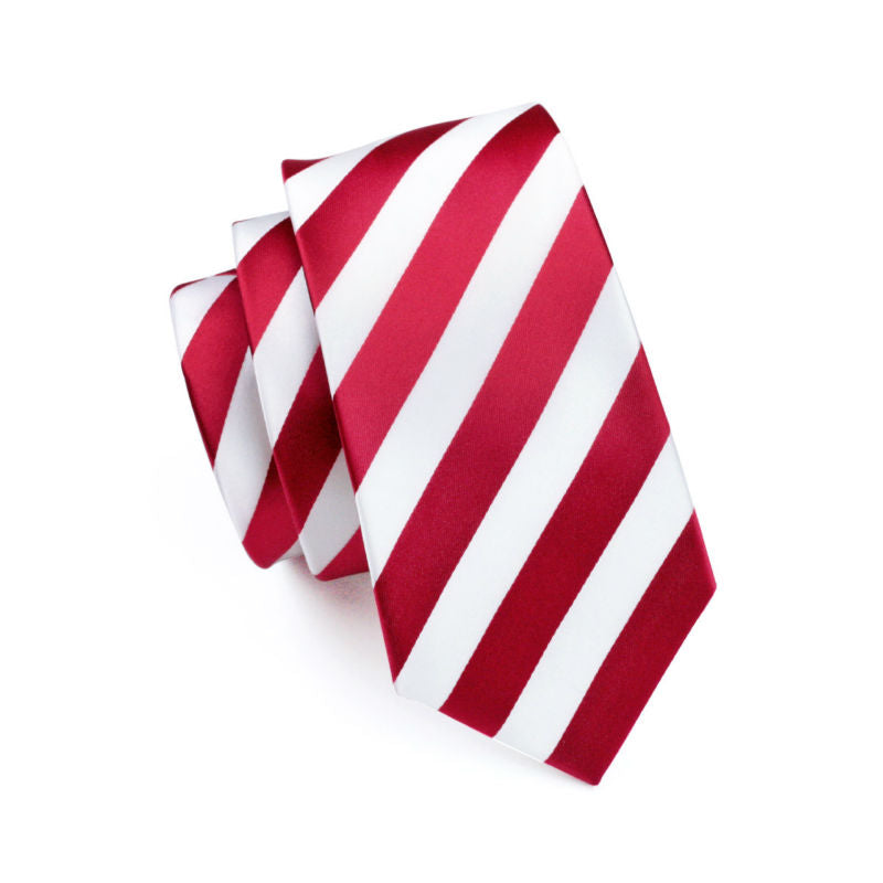 Upscale Woven Tie in red