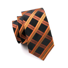 Men's Plaid Fashion 100% Silk Jacquard Woven Tie + Hanky + Cufflink Set