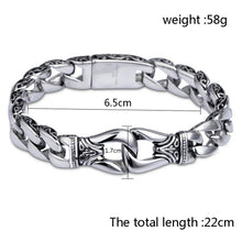 Men's Vintage Stainless Steel  Link Chain Bracelet