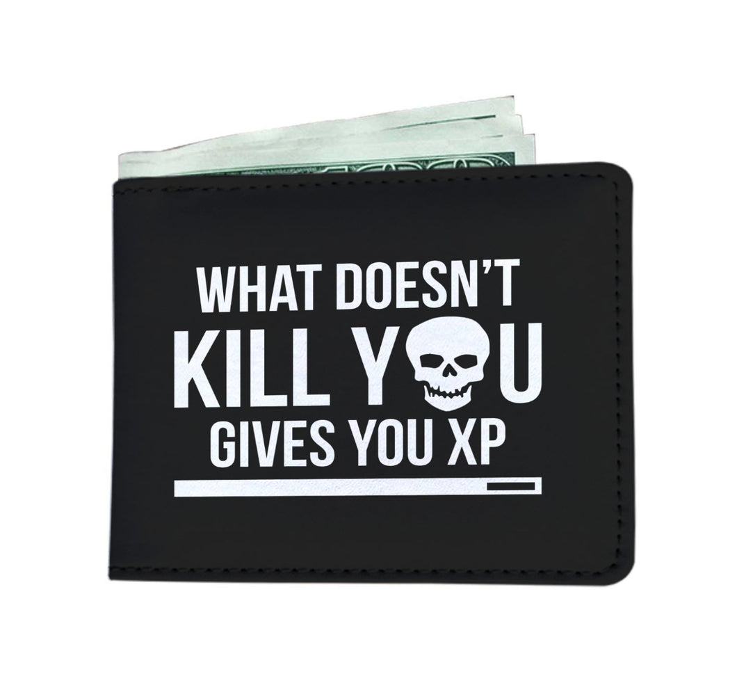 What Doesn't Kill You Gives You XP RPG Video Gamer Wallet