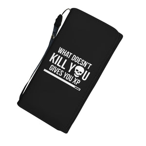 What Doesn't Kill You Gives You XP RPG Video Gamer Womens Wallet What Doesn't Kill You Gives You XP RPG Video Gamer Womens Wallet