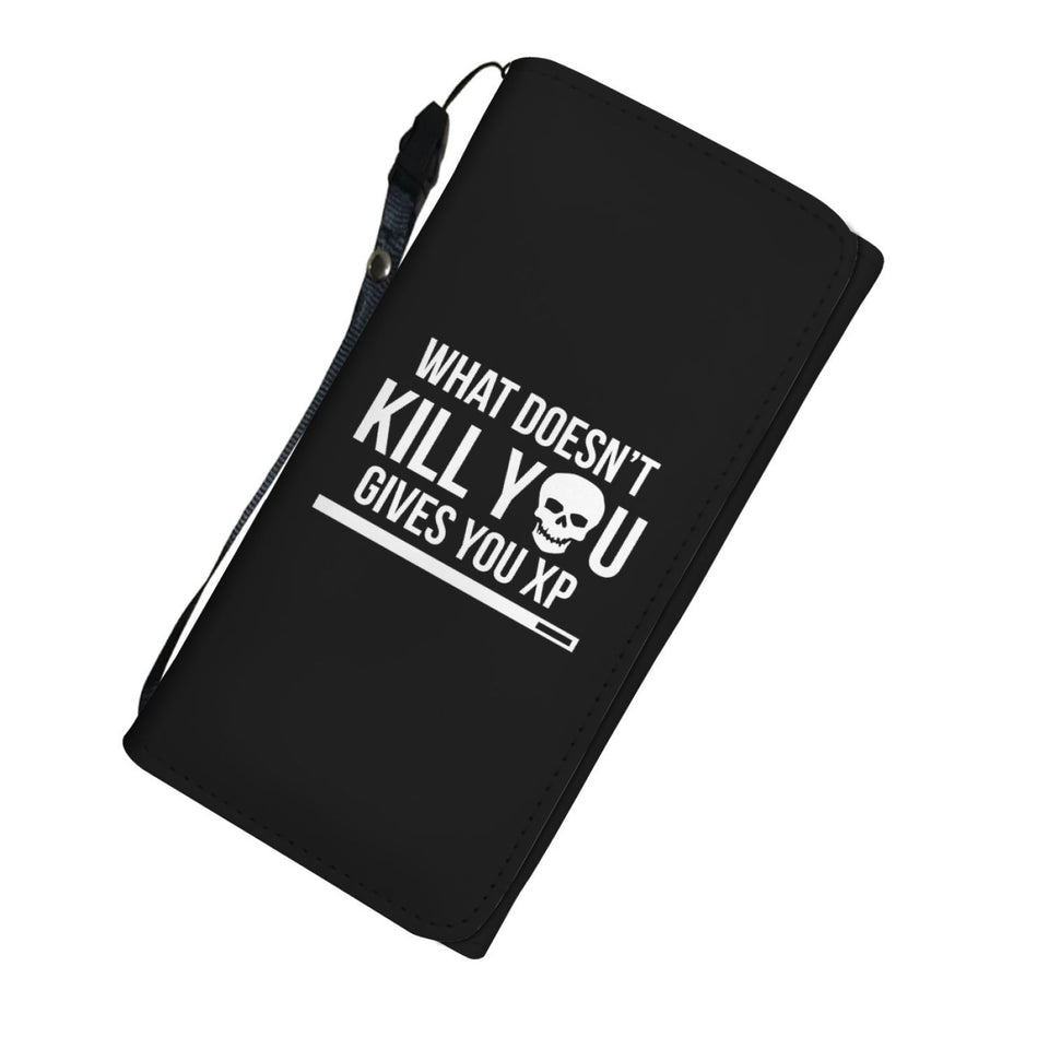 What Doesn't Kill You Gives You XP RPG Video Gamer Womens Wallet