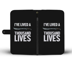 I've Lived A Thousand Lives Fantasy RPG Video Gamer Wallet Phone Case I've Lived A Thousand Lives Fantasy RPG Video Gamer Wallet Phone Case