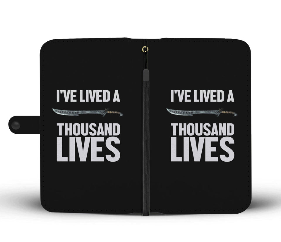 I've Lived A Thousand Lives Fantasy RPG Video Gamer Wallet Phone Case