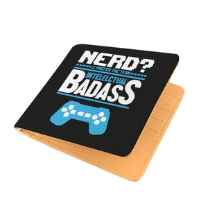 Nerd? I Prefer The Term Intellectual Badass Video Gamer Mens Wallet Nerd? I Prefer The Term Intellectual Badass Video Gamer Mens Wallet