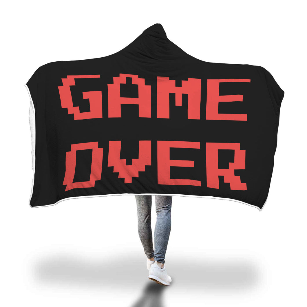 Game Over Video Gaming Hooded Blanket