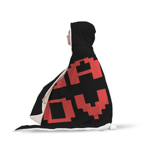 Game Over Video Gaming Hooded Blanket Game Over Video Gaming Hooded Blanket