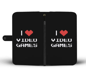I Love Video Games - Video Gamer Wallet Phone Case Image 1