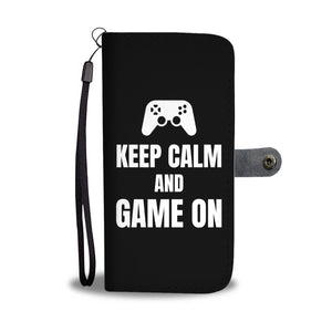 Keep Calm And Game On Blanket Video Gamer Wallet Phone Case Keep Calm And Game On Blanket Video Gamer Wallet Phone Case