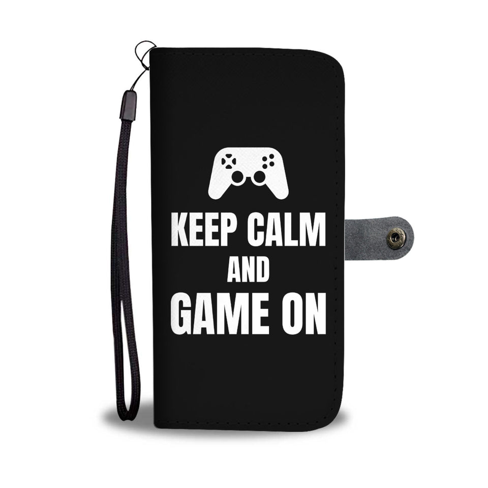 Keep Calm And Game On Blanket Video Gamer Wallet Phone Case