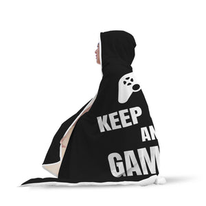 Keep Calm And Game On Video Gamer Hooded Blanket Keep Calm And Game On Video Gamer Hooded Blanket