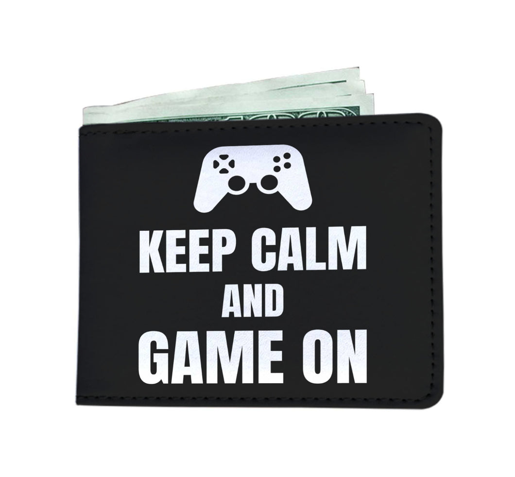 Keep Calm And Game On Blanket Video Gamer Wallet