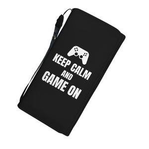 Keep Calm And Game On Blanket Video Gamer Womens Wallet Keep Calm And Game On Blanket Video Gamer Womens Wallet