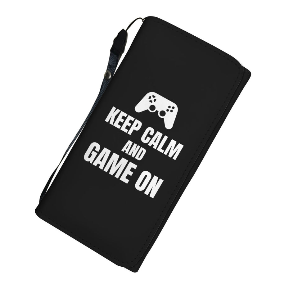 Keep Calm And Game On Blanket Video Gamer Womens Wallet