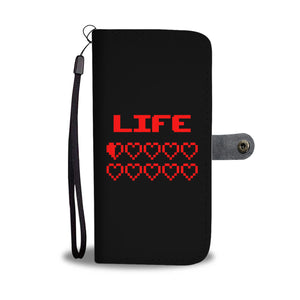 Gaming Life Bar - Game Hearts Health Bar Video Gamer Wallet Phone Case Gaming Life Bar - Game Hearts Health Bar Video Gamer Wallet Phone Case