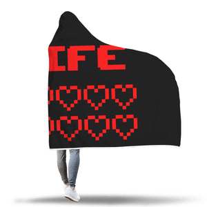 Gaming Life Bar (Game Hearts Health Bar) - Video Gaming Hooded Blanket Gaming Life Bar (Game Hearts Health Bar) - Video Gaming Hooded Blanket
