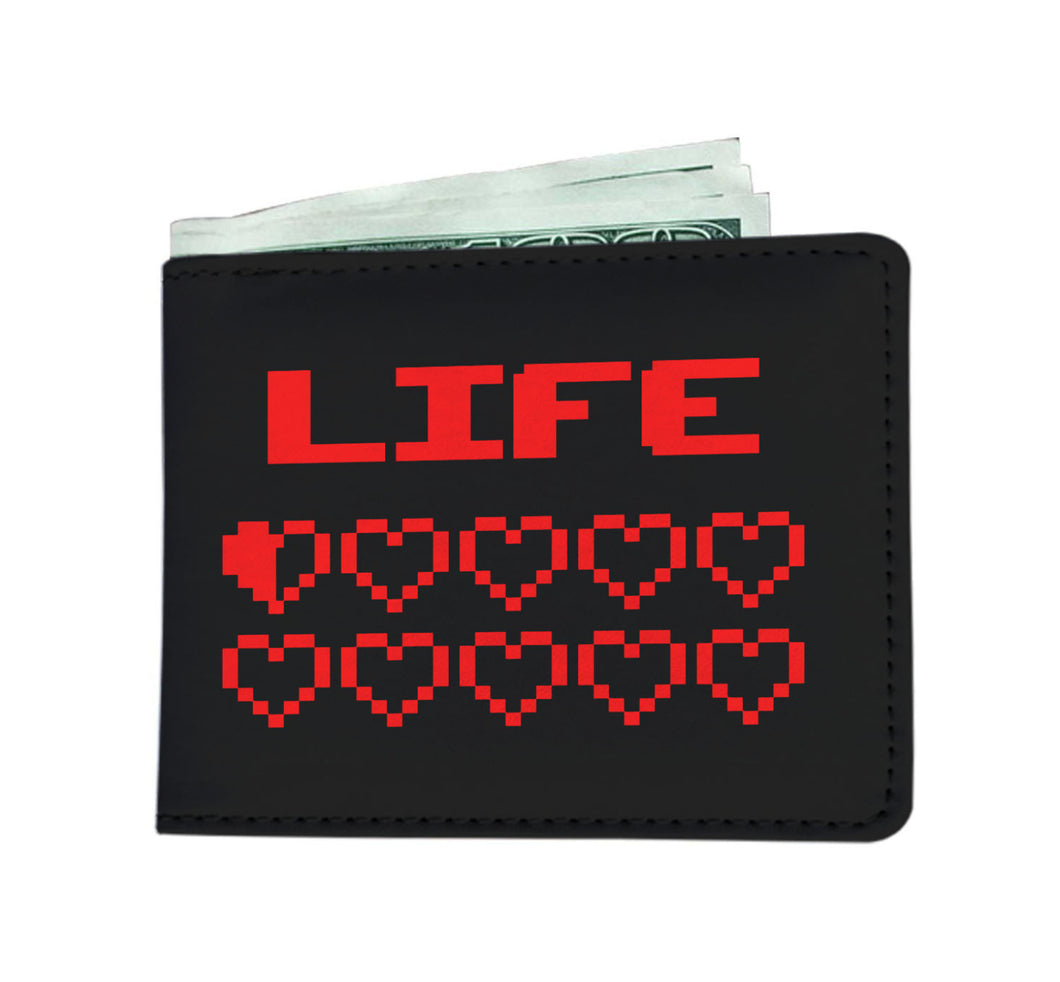 Gaming Life Bar - Game Hearts Health Bar Video Gamer Wallet