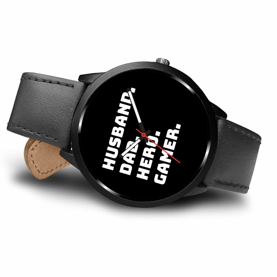 Husband Dad Hero Gamer Video Game Watch