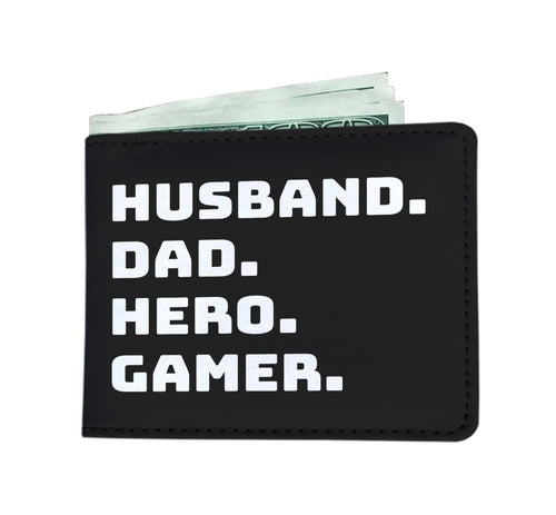 Husband Dad Hero Gamer Video Game Wallet