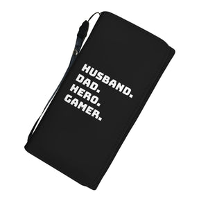 Husband Dad Hero Gamer Video Game Wallet Case Husband Dad Hero Gamer Video Game Wallet Case
