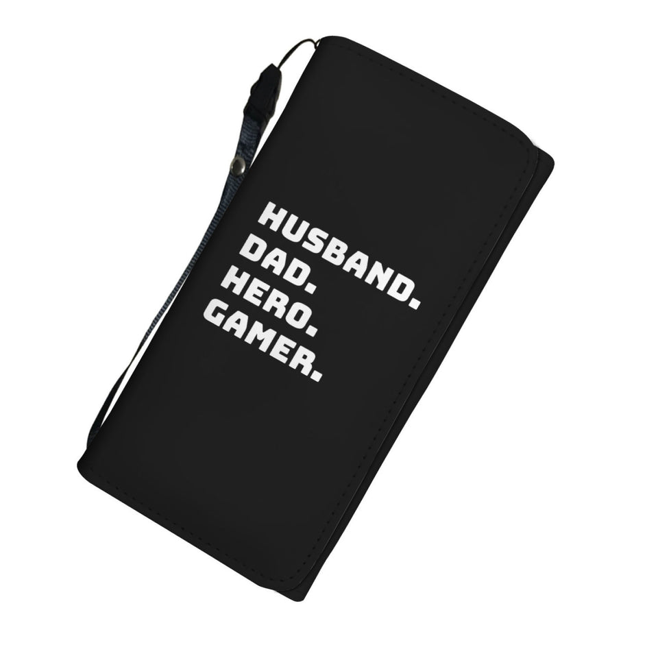 Husband Dad Hero Gamer Video Game Wallet Case