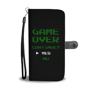 Game Over Continue Video Gamer Wallet Phone Case Game Over Continue Video Gamer Wallet Phone Case