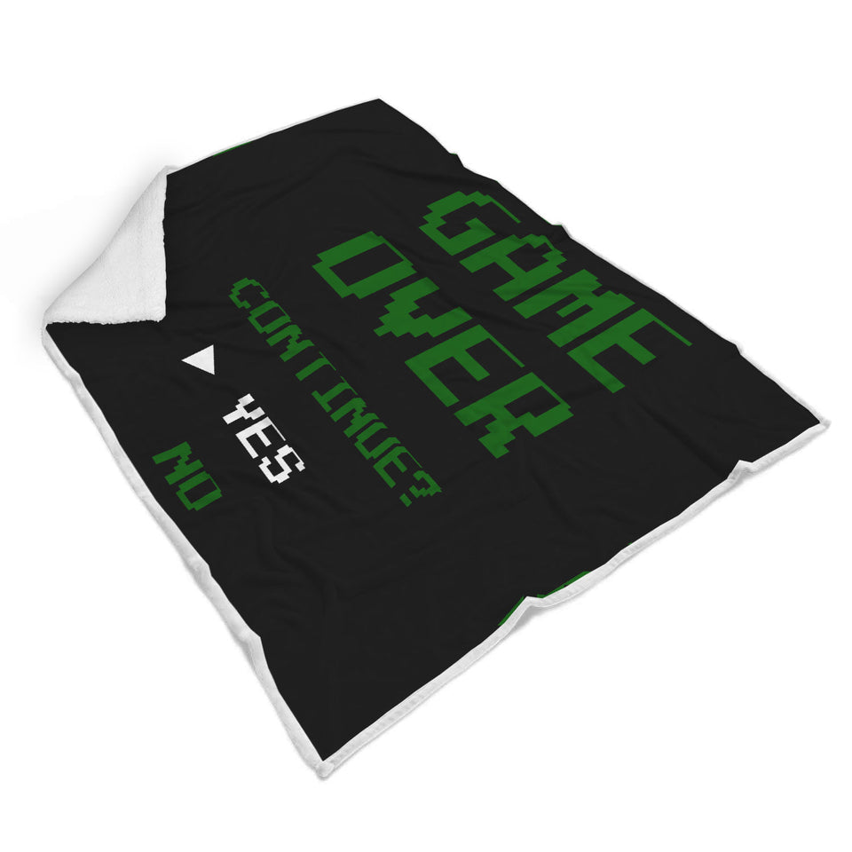 Game Over Continue - Video Gamer Blanket