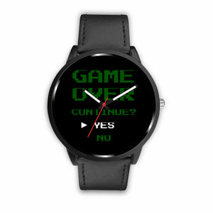 Game Over Continue Retro Video Gamer Watch Game Over Continue Retro Video Gamer Watch
