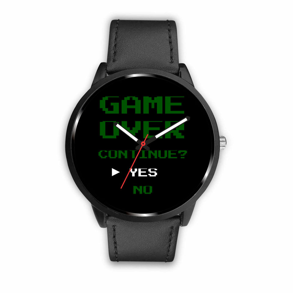 Game Over Continue Retro Video Gamer Watch
