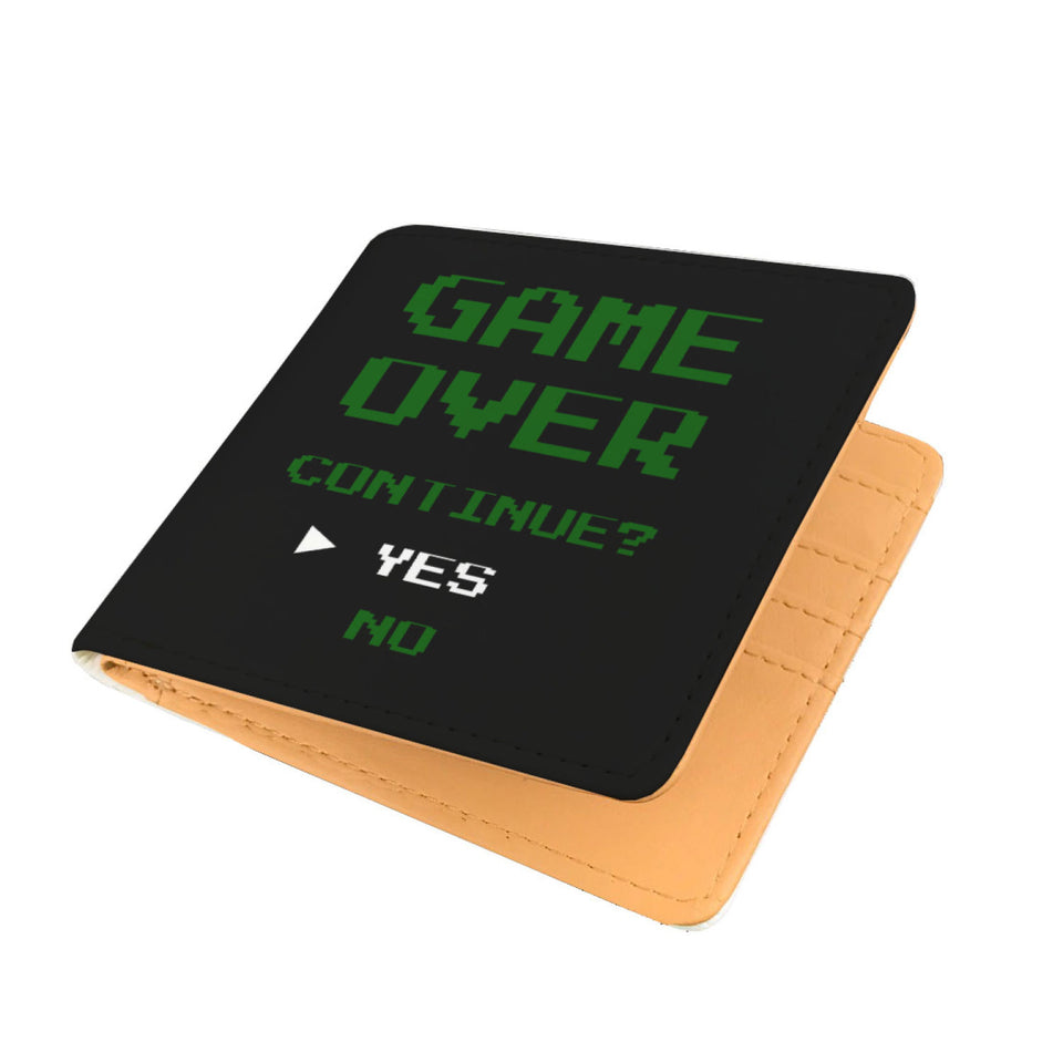 Game Over Continue Video Gamer Wallet