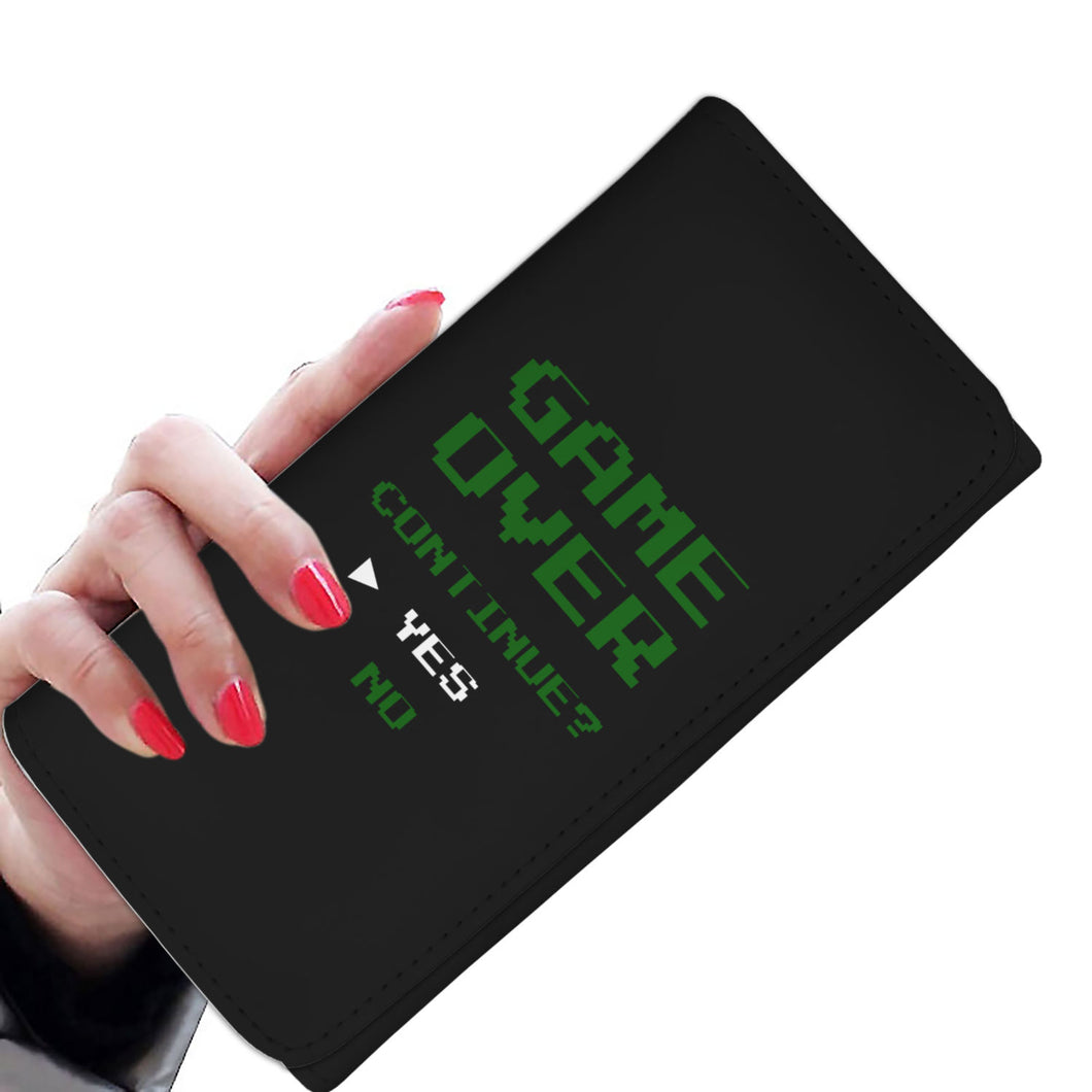 Game Over Continue Video Gamer Womens Wallet