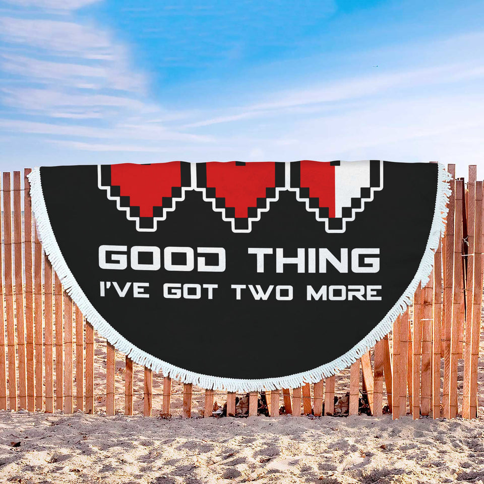 Video Games Ruined My Life Good Thing I've Got Two More Beach Blanket